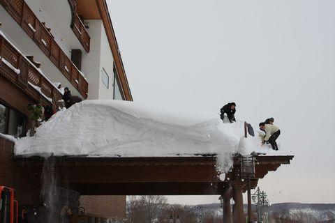 初・雪おろし まずははじっこから・・・・  1月12日撮影