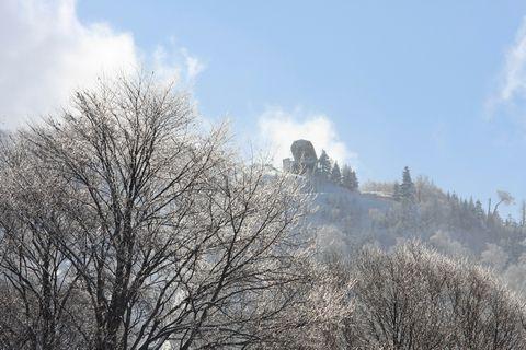 凍てつく空と大地     1月29日撮影