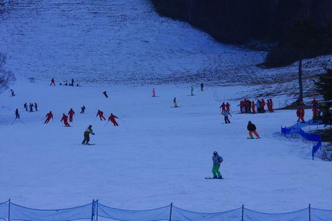 熊の湯スキー場 11月26日午前のゲレンデ