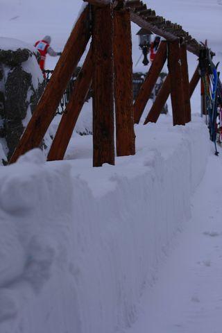 ガーデンテラスの積雪