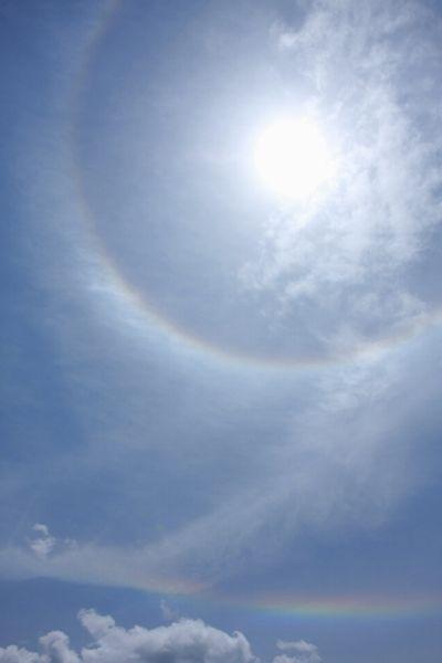 Double Rainbows !?            6月15日朝 撮影