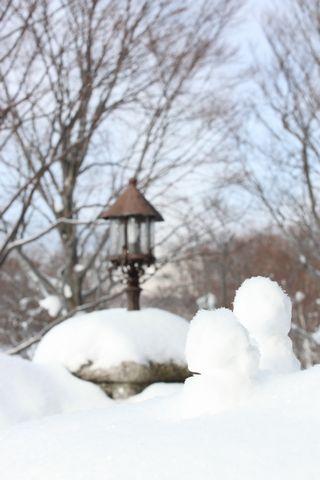 ガーデンテラスには雪だるまクン