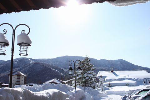 苦あれば楽あり。 吹雪の後の青空。     2月13日撮影
