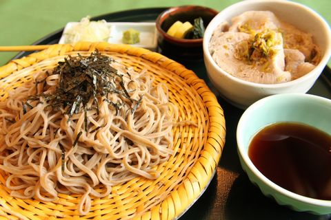 ざるそば&塩豚丼セット ¥1,500