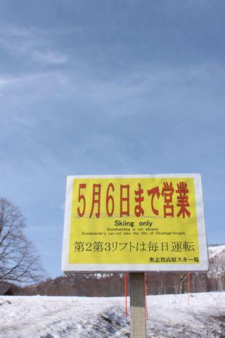 奥志賀スキー場 はりきってます!        4月25日撮影