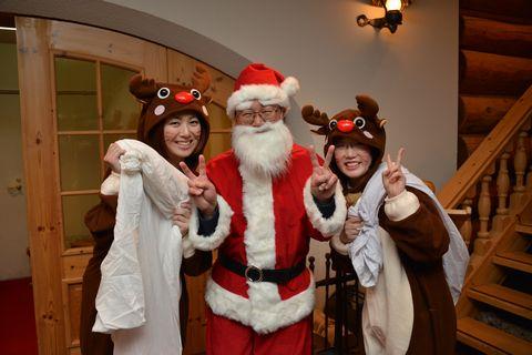サンタさんっっ!今年は鼻の下伸びっちゃってます!