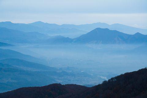 なべくら高原 展望台からの眺め     10月31日