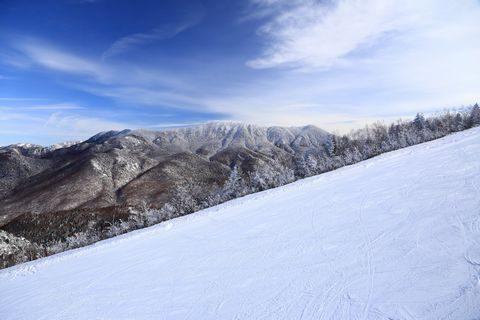 第三リフトより岩菅山を眺める
